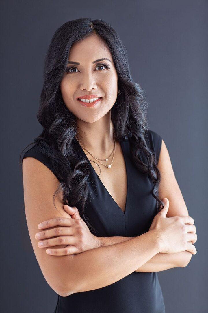A Woman's Corporate Half-Body Portrait