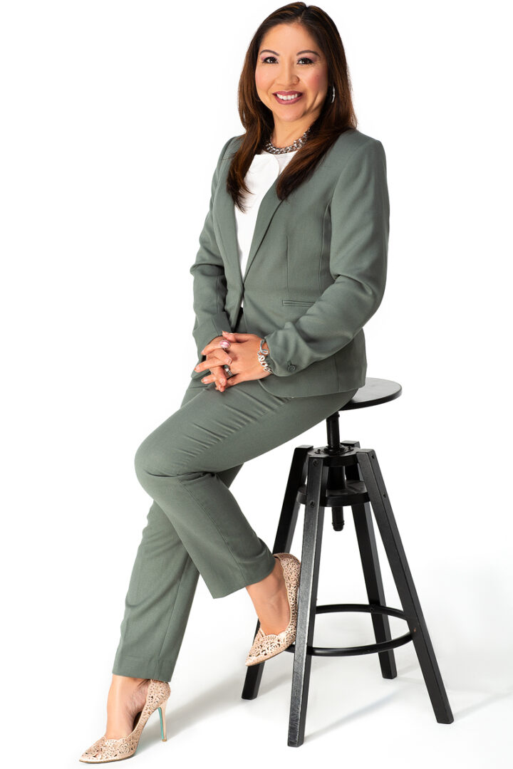 A Woman in Corporate Attire
